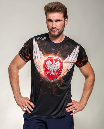 JOGGING T-SHIRT 3D COAT OF ARMS OF POLAND