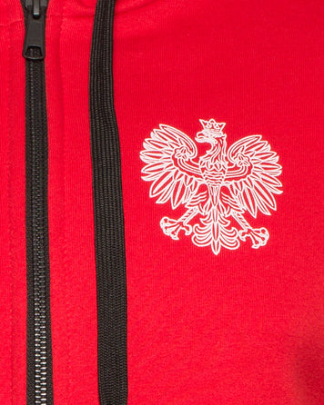 HODDIE WITH A ZIPPER THE COAT OF ARMS OF POLAND