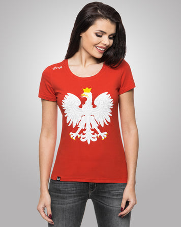 WOMEN'S T-SHIRT COAT OF ARMS OF POLAND
