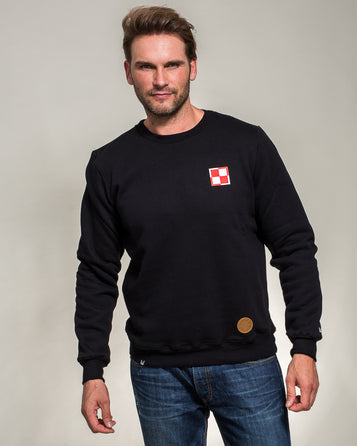 SWEATSHIRT POLISH AIR FORCE CHECKERBOARD