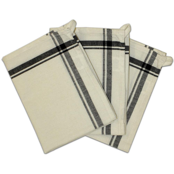 Stitch 'Em Up Retro Stripe Towels - Black