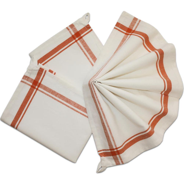 Stitch 'Em Up Retro Stripe Towels - Orange