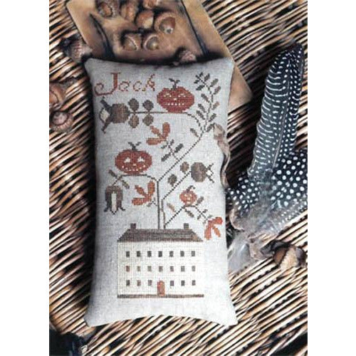 Jack's House Pumpkin Pinkeep Cross Stitch Pattern