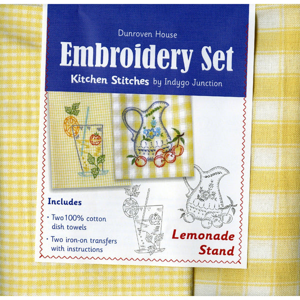 Kitchen Towels Embroidery Set ~ Lemonade Stand
