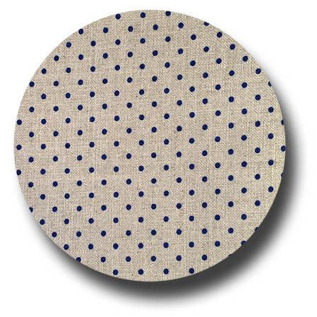 32 ct. Petit Point Raw / Blue Belfast Linen