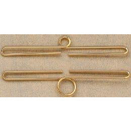 Polished Brass Bellpull Hardware - 6 1/4""