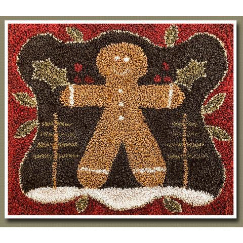 The Gingerbread Man Punchneedle Pattern
