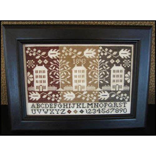 Coverlet Houses Sampler Cross Stitch Pattern