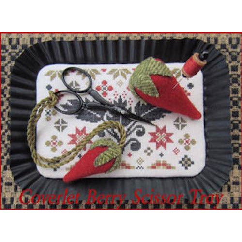 Coverlet Berry Scissor Tray Cross Stitch Pattern