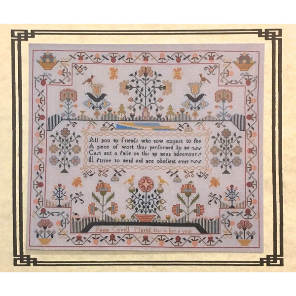 Fanny Covell 1790 Reproduction Sampler Pattern