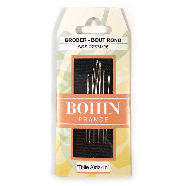Bohin Assorted Tapestry Needles 22/24/26 Blunt Point