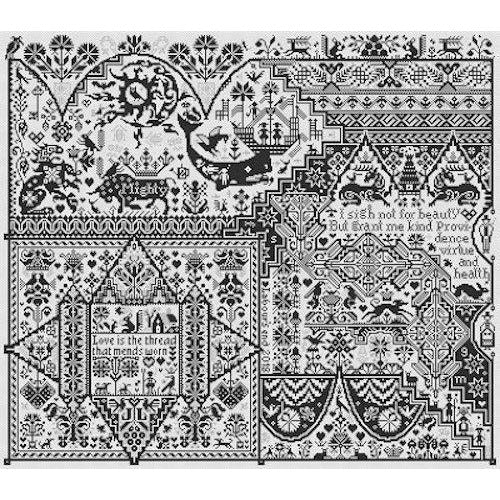 Life After Death Mono Sampler Long Dog Samplers Cross Stitch Pattern