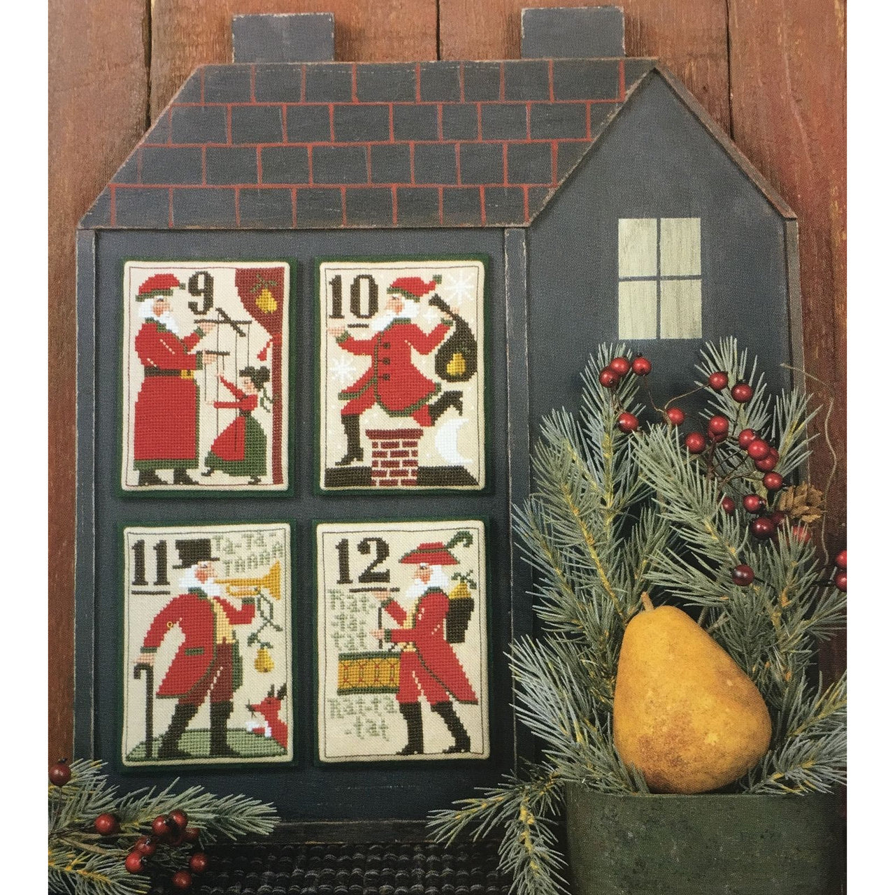 Santa's 12 Days Christmas 9-12 Cross Stitch Pattern Book 127