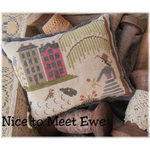 Nice To Meet Ewe Cross Stitch Pattern