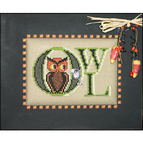 Charmed: Vintage Owl Cross Stitch Pattern