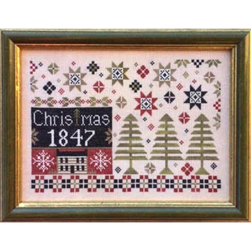 Coverlet Christmas Cross Stitch Pattern