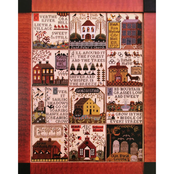 The Village of Hawk Run Hollow Cross Stitch Pattern