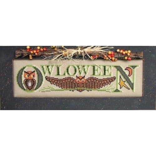Charmed: Owloween Cross Stitch Pattern w/Charm