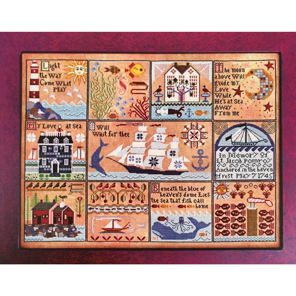 The Shores of Hawk Run Hollow Carriage House Samplings Cross Stitch Pattern
