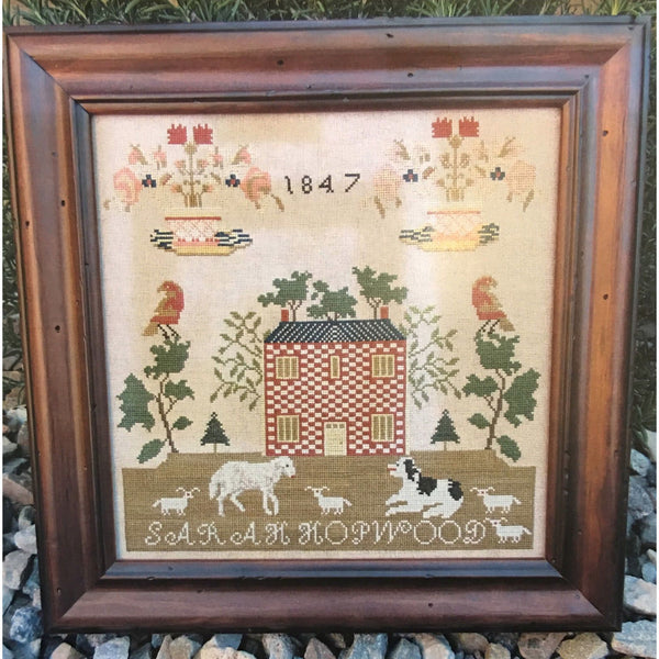 Sarah Hopwood 1847 Reproduction Sampler Cross Stitch Pattern