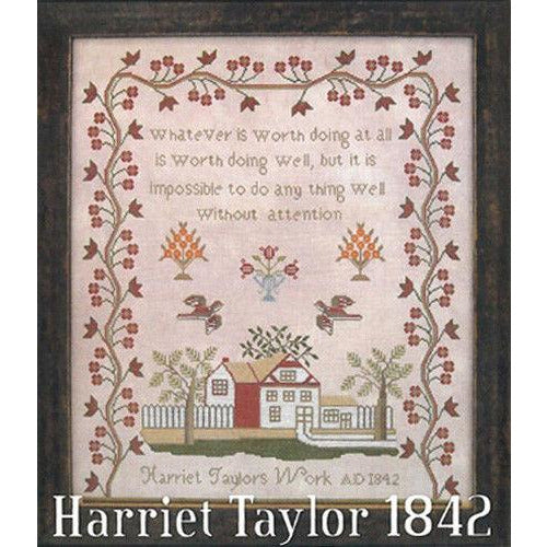 Harriet Taylor 1842 Reproduction Sampler Pattern or Kit