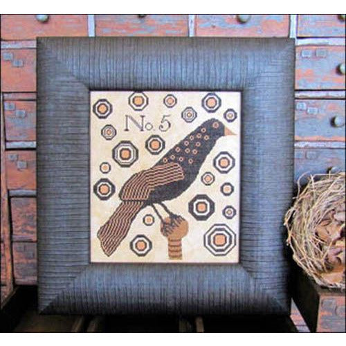 Crow No. 5 Cross Stitch Pattern