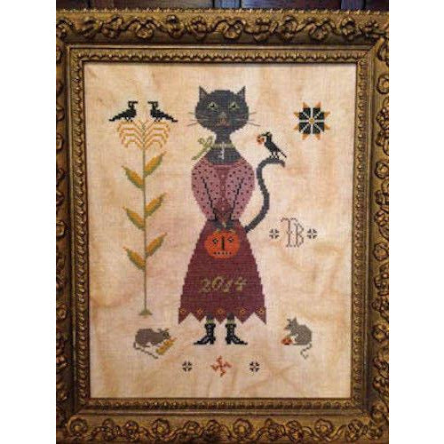 Miss Isabelle Black Cross Stitch Pattern
