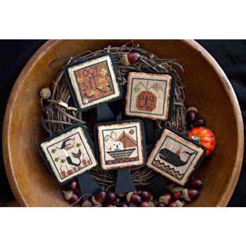 Stranded Jacks Halloween Ornaments Cross Stitch Pattern