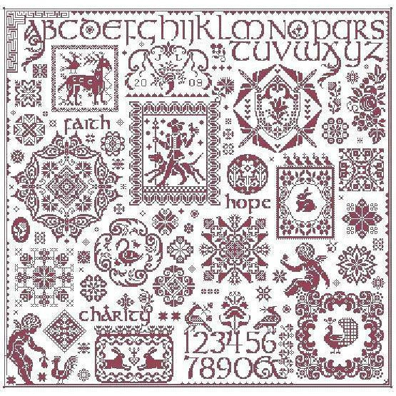 Paradigm Found Sampler Long Dog Samplers Pattern