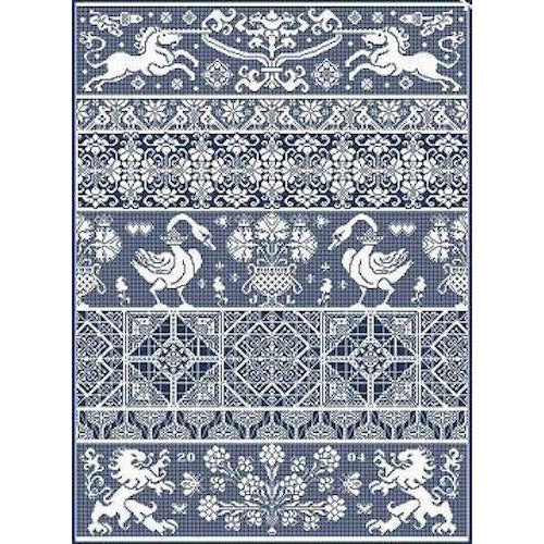 Bagatelle Band Sampler Long Dog Samplers Pattern