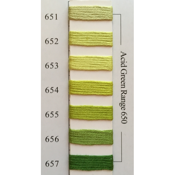Colors 651 - 657 Acid Green Range