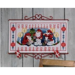 Elf/Gift Advent Calendar Cross Stitch Kit