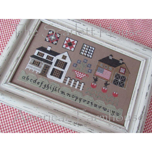 American Farmhouse Cross Stitch Pattern