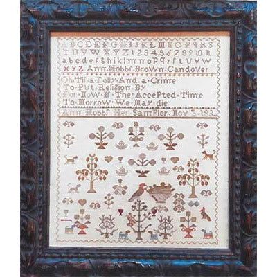 Spring Sampler: Ann Hobbs 1834 Sampler Cross Stitch Pattern