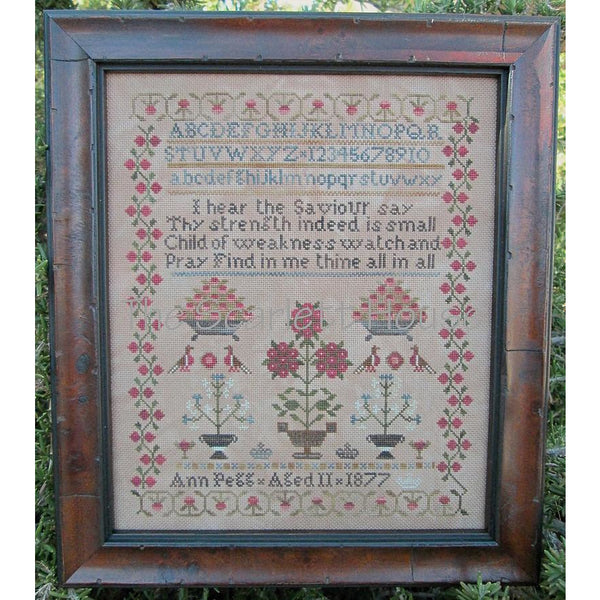 Ann Pegg 1877 Sampler Cross Stitch Pattern