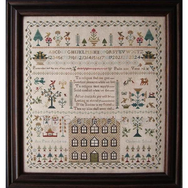 Ann Priest 1841 Reproduction Sampler Cross Stitch Pattern
