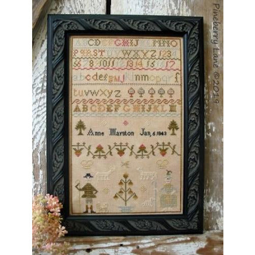 Anne Marston 1843 Sampler Pattern