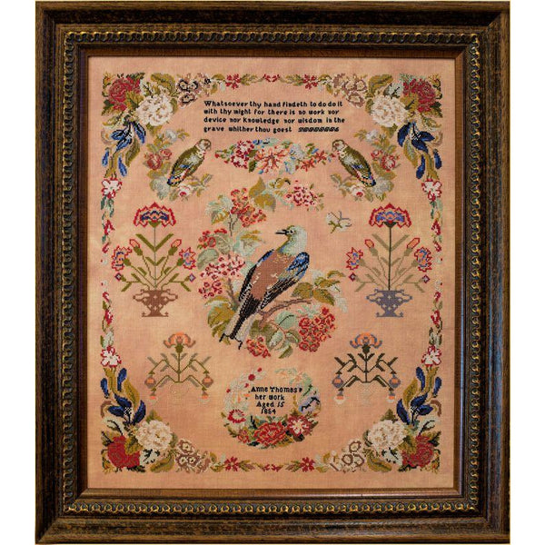 Anne Thomas 1854 Reproduction Sampler Pattern