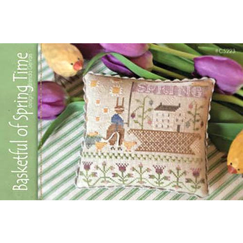 Basketful of Spring Time Cross Stitch Pattern