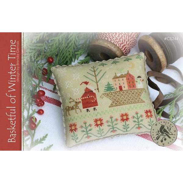 Basketful of Winter Time Cross Stitch Pattern