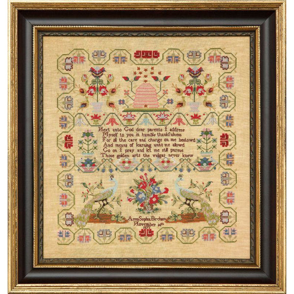 Little Gems Series - Anna Sophia Bircham 1871 Sampler Pattern PDF