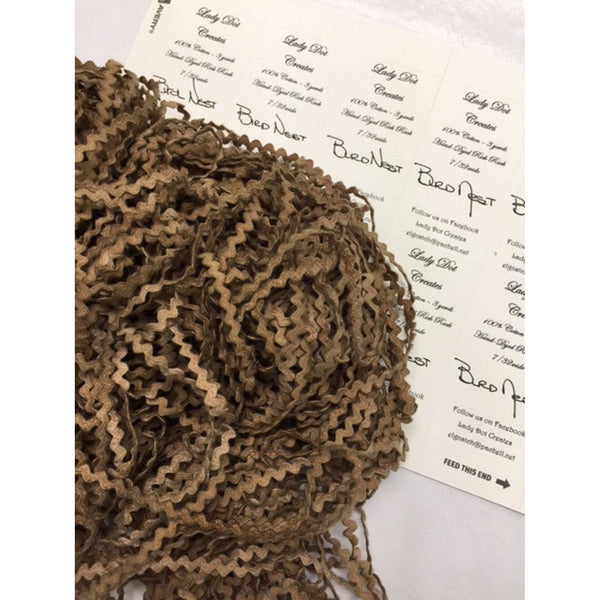Rick Rack Trim - Bird Nest 7/32""