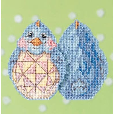 Blue Chick Cross Stitch Kit