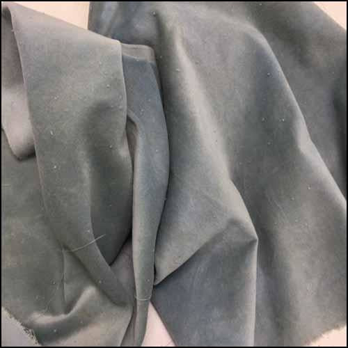 Blue Fescue 100% Cotton Hand-Dyed Velveteen - Fat Eighth