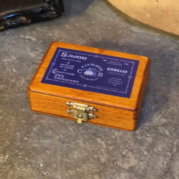 Sajou Miniature Wooden Box ~ Blue