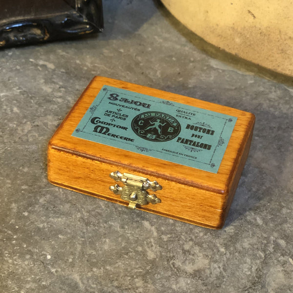 Sajou Miniature Wooden Box ~ Green