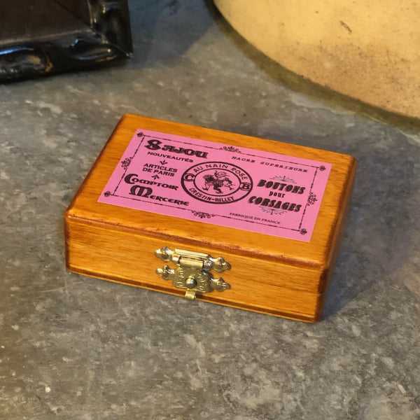 Sajou Miniature Wooden Box ~ Pink