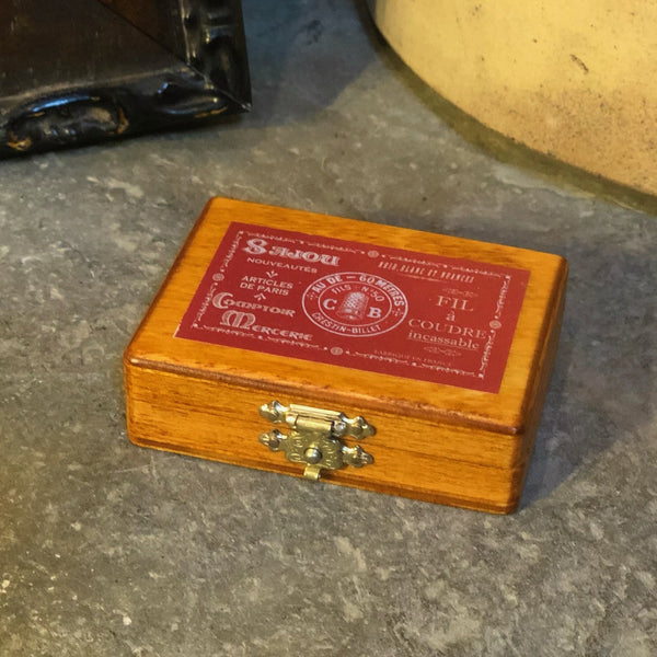 Sajou Miniature Wooden Box ~ Red