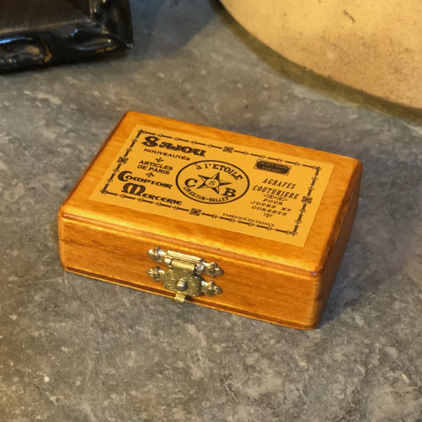 Sajou Miniature Wooden Box ~ Yellow