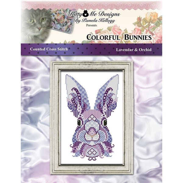 Colorful Bunnies - Lavendar & Orchid Pattern